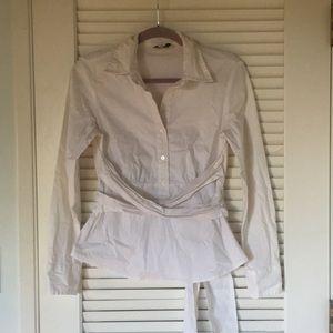 Ann Taylor Loft white shirt blouse.